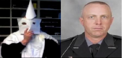 State Trooper in kkk gear