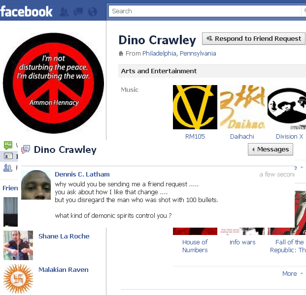 instigator / enemy to America dino crawley from FaceBook
