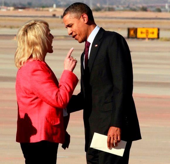 Arizona Governor Jan Brewer the pale devil witch - to evil to be called white.