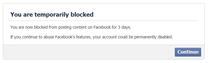 blocked for 3 days