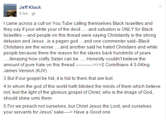 jeff klock black israelites